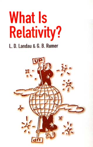WHAT IS RELATIVITY? L.D. LANDAU, G.B. RUMER Ξενόγλωσσα